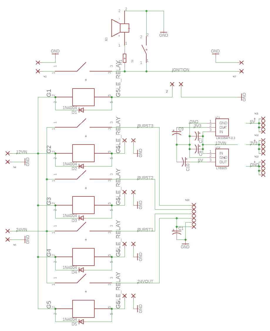 Edge Relays Power Distribution 5 Pin Relay 12v 24v Pcb Schematic