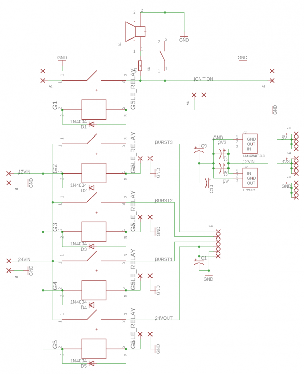 Relay PCB Schematic