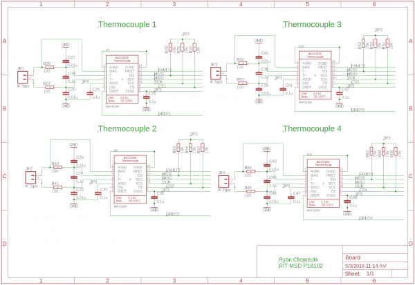 Final Engine PCB Thermocouple Circuit