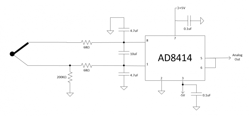 Thermocouple Amplifier Schematic