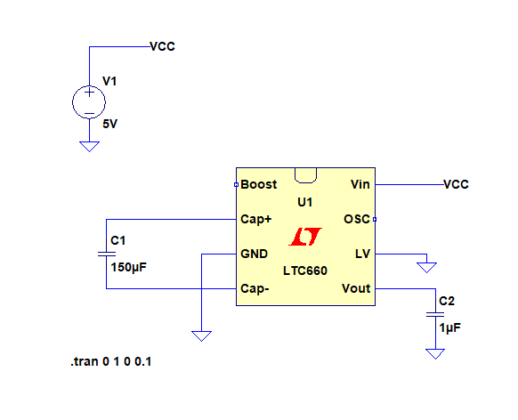 Positive to Negative Inverter Schematic