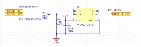 State of Charge Current Sense Schematic