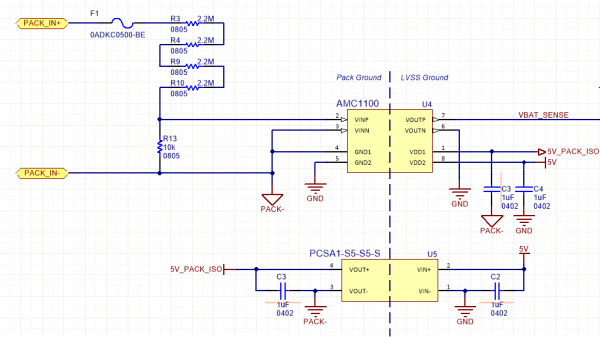 State of Charge Voltage Sense Schematic