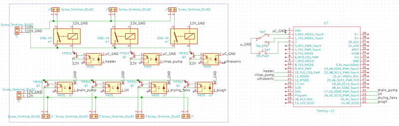 PDB and controls board schematic