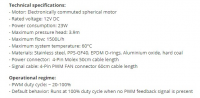 Pump Specs for a small water cooling loop
