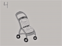 Open Stroller with Heated Seat