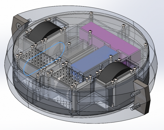 Isometric View of Design: Showing Belt driven system