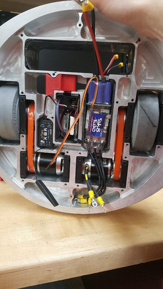 Robot Chassis with components inside, prior to wiring
