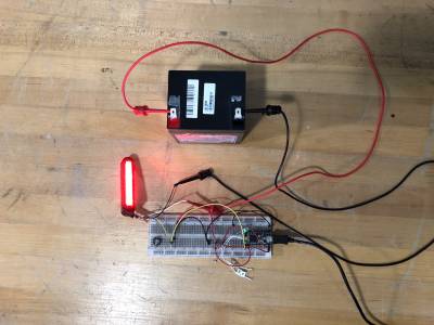 Preliminary Testing of LED Inside