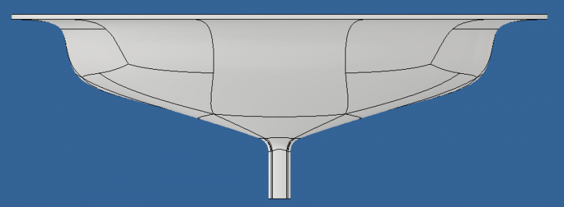 U-Shaped Diverter Front View