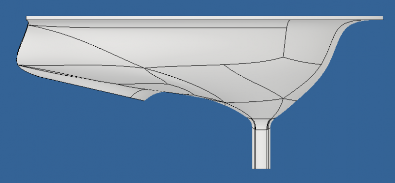 U-Shaped Diverter Side View