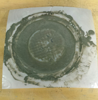 Subscale Vacuum Formed Mold Concrete Test