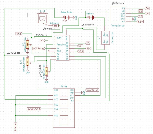 Power Controller Schematic Option One