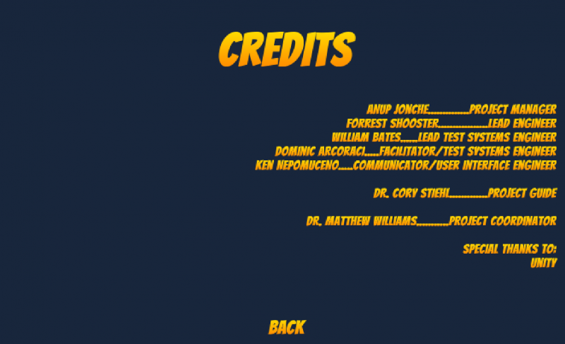 Current Credits screen, left side will include a logo or art design