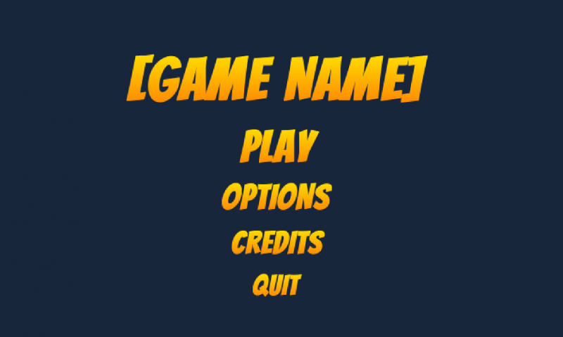 Title Screen for Game