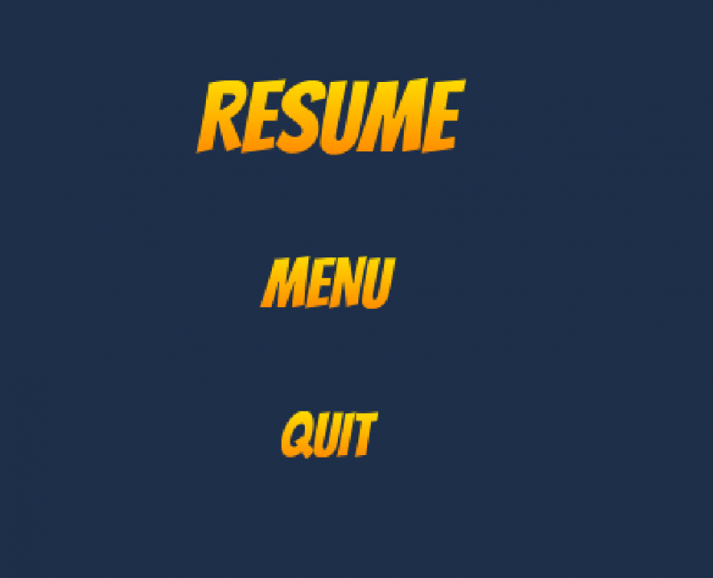 Current design for Pause Menu