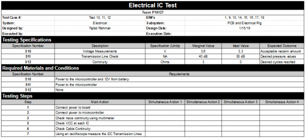 Electrical IC Test