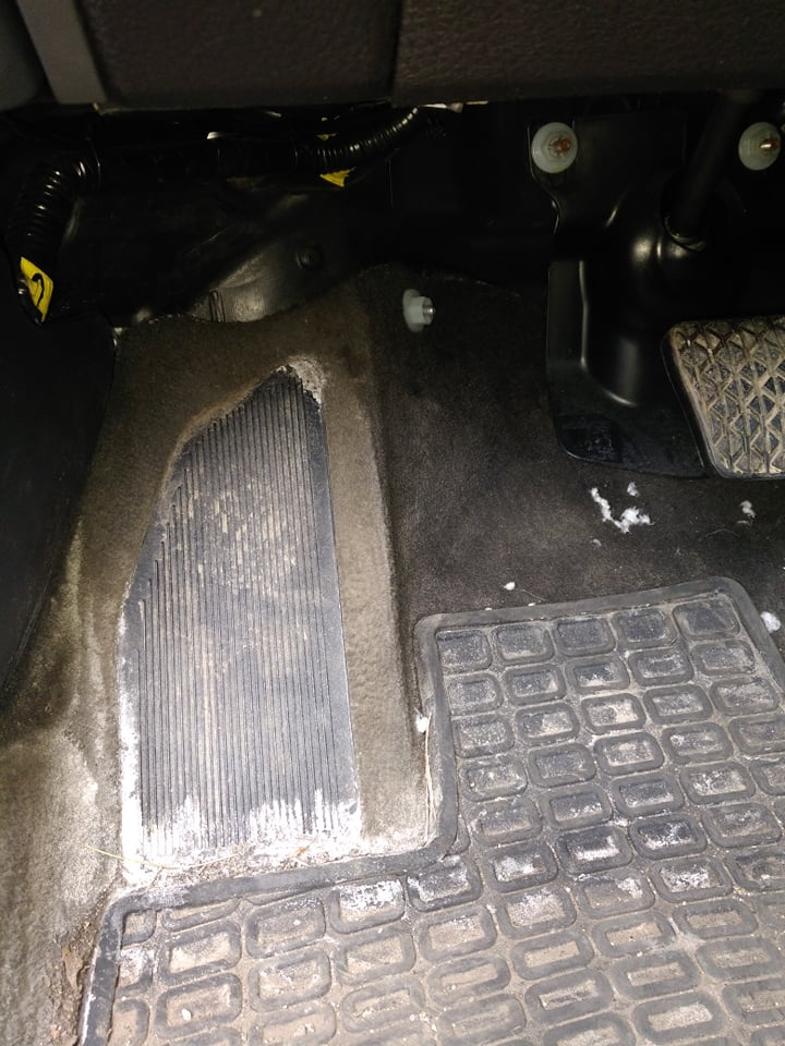 Dead Pedal Zone for 2010 Ford Fusion