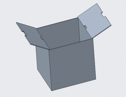 Enclosure designed to hold stacking layers of components (open view)