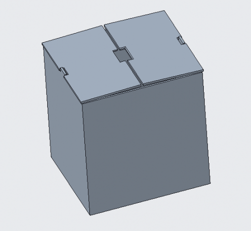 Enclosure designed to hold stacking layers of components (closed view)