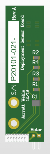 P20101-021 PCB with mounted reflectance sensors