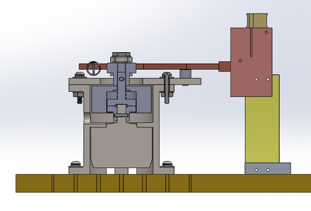 Side view of Mechanical Heat Switch