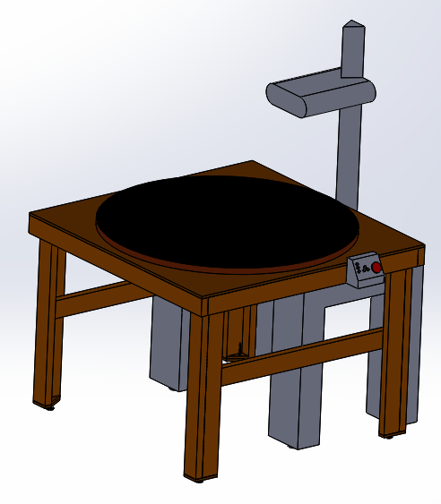 CAD Model of rotating table installed onto current setup