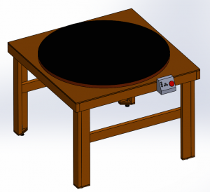 CAD Model of the rotating table