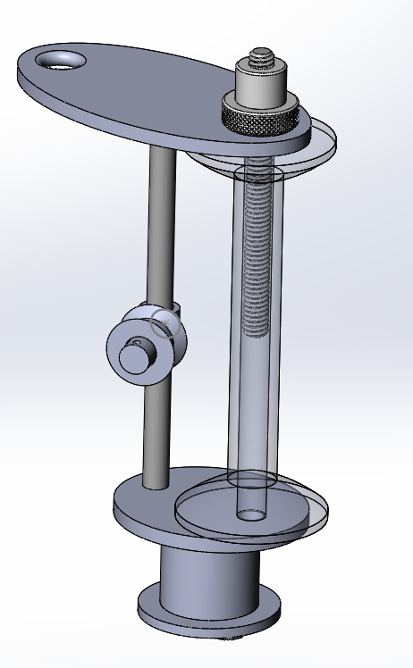 Tensioning mechanism on top of spool
