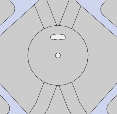 Plate which holds bobbin switcher