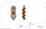 Auger in the extruder model.